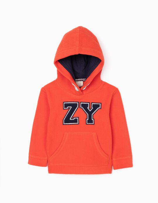 Sudadera Polar para Niño 'ZY', Naranja