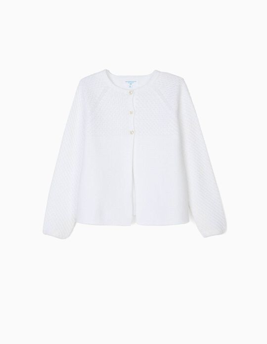 Cardigan for Girls 'B&S', White