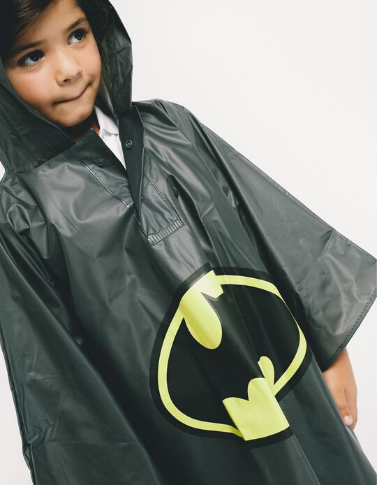 Rain Cover for Boys 'Batman', Black