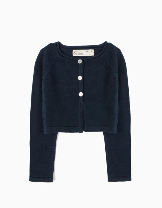 Bolero Jacket for Baby Girls, Dark Blue
