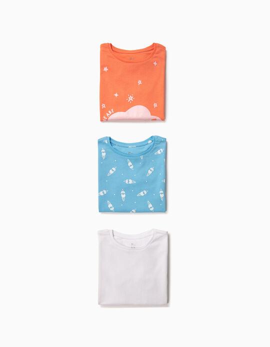 3 T-shirts para Menina 'Future', Multicolor