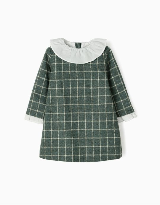 Plaid Dress for Baby Girls 'B&S', Green