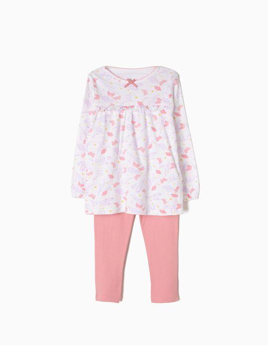 Pijama de Manga Larga y Pantalón de Mariposas