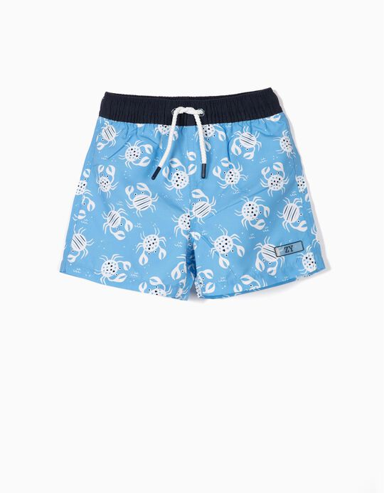 Swim Shorts for Baby Boys, UPF 80, 'B&S' Blue