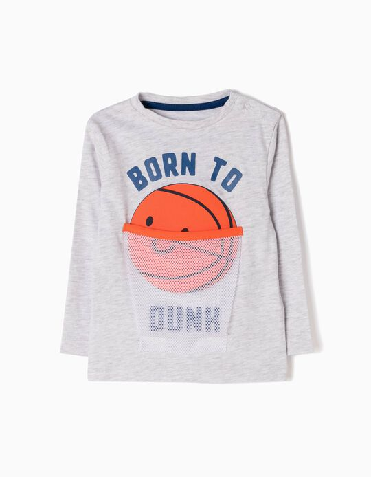 T-shirt Manga Comprida Estampada Born To Dunk