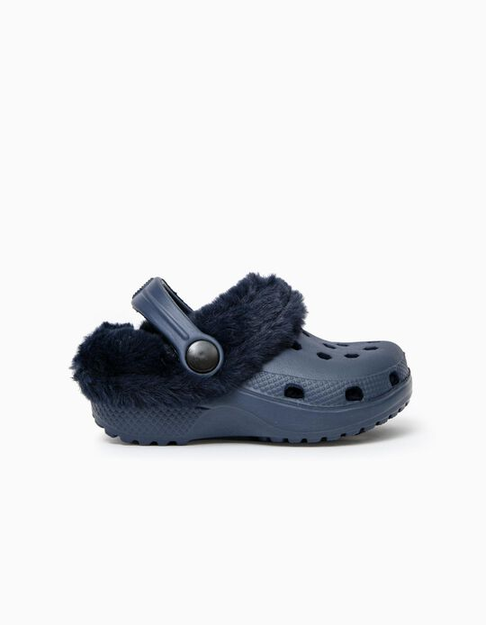 Lined Clogs for Babies, Dark Blue