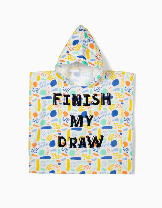 Poncho de Playa para Bebé 'Finish My Draw', Multicolor