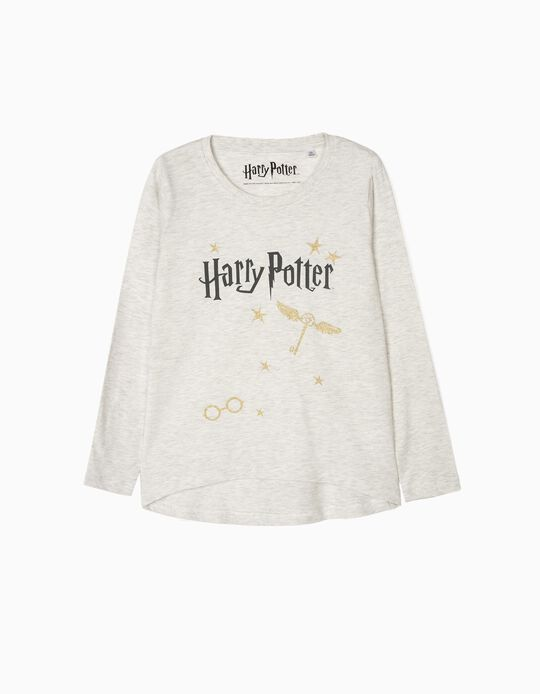 Camiseta de Manga Larga para Niña 'Harry Potter', Gris