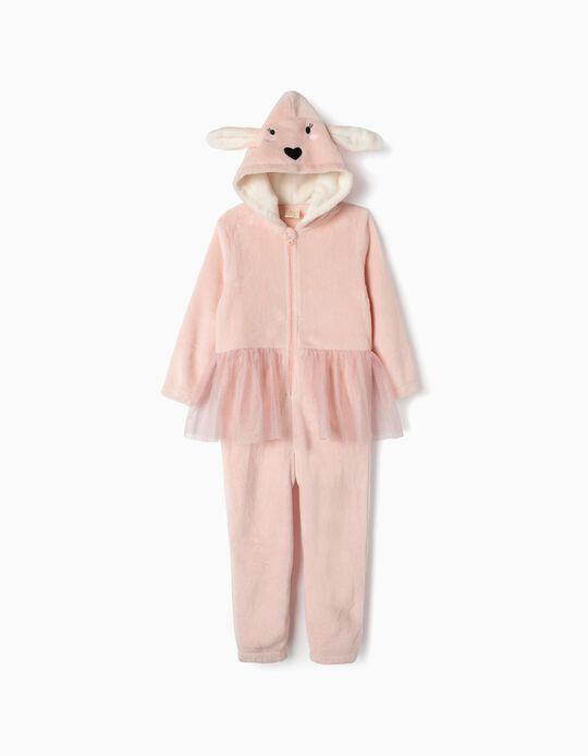 Pijama-Macacão para Menina 'Bunny Ballerina', Rosa