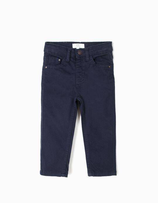 Calças para Bebé Menino, Azul Escuro