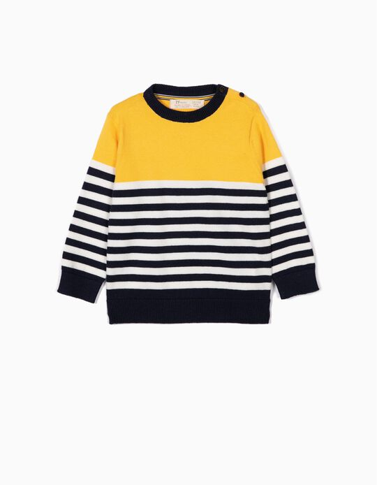 Jumper for Baby Boys, Yellow and Blue