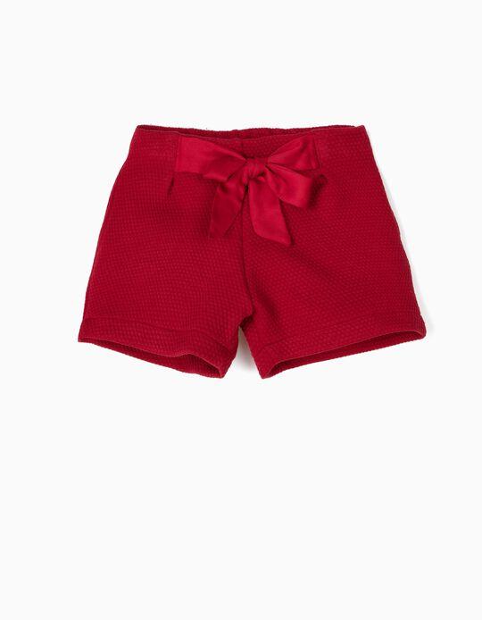 Short Rojo com Relieve