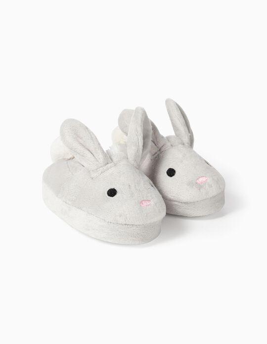 Pantuflas para Bebé Niña 'Cute Bunny', Grises