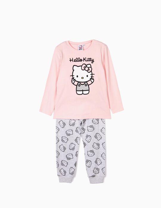 Pijama para Niña 'Hello Kitty', Rosa y Gris