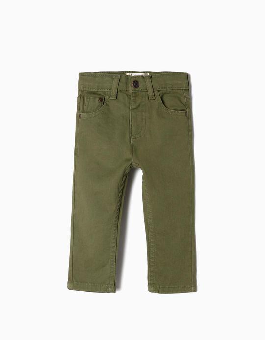 Pantalon sergé bébé garçon, vert