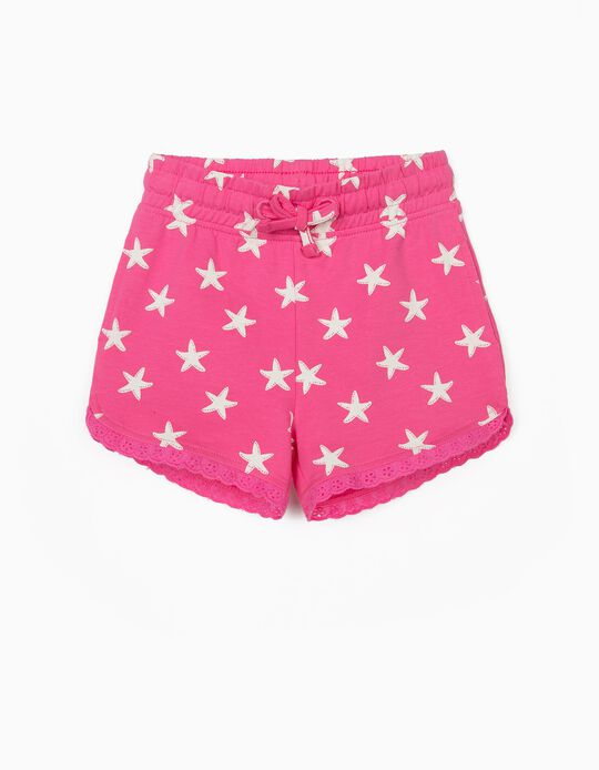 Shorts for Baby Girls, 'Starfish', Pink