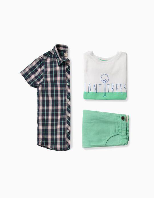 Conjunto para Niño 'Plant Trees', Azul y Verde