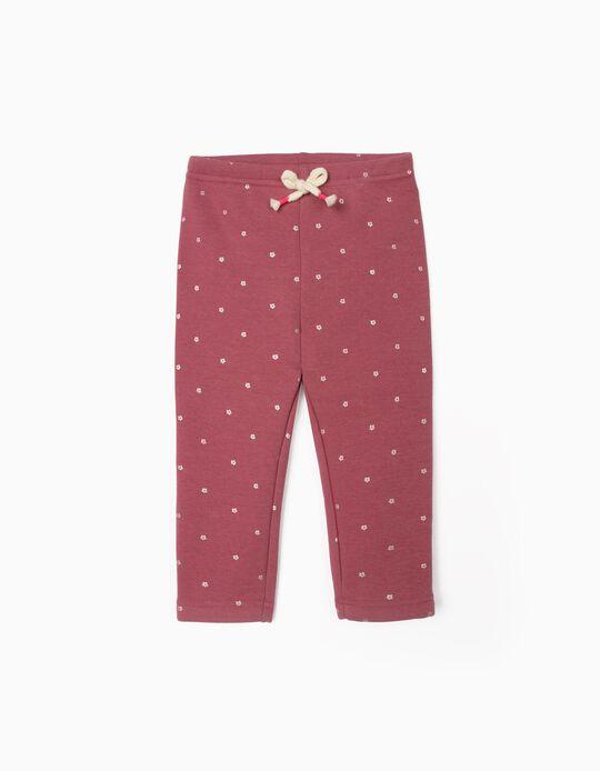 Leggings for Baby Girls 'Daisy', Dark Pink