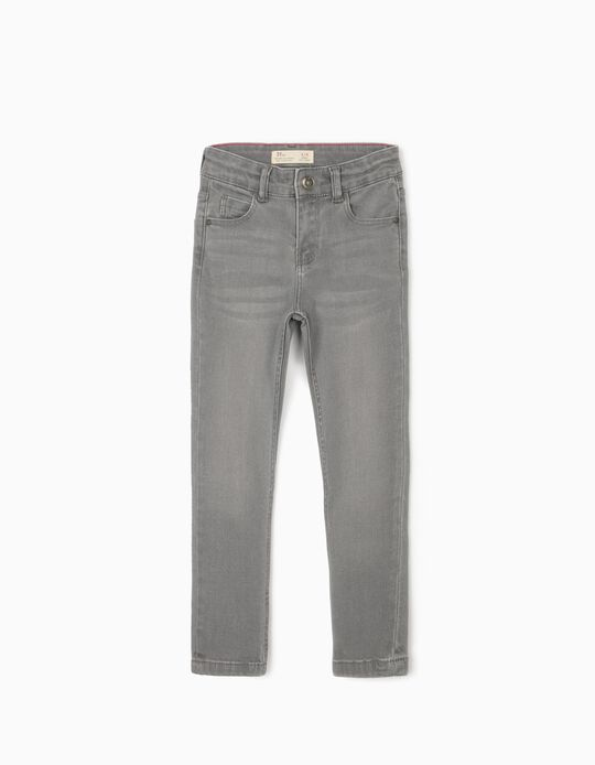 Slim Leg Denim Trousers for Boys, Grey