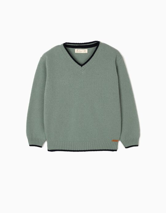 Camisola Lã para Menino, Verde