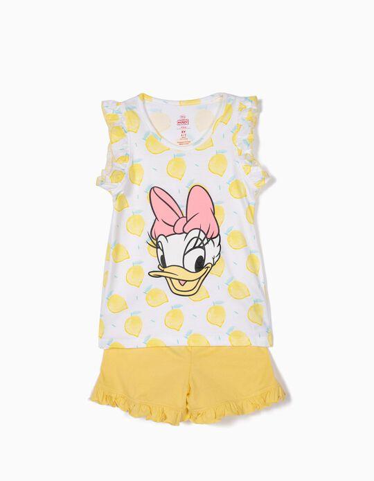 Pijama para Niña 'Daisy Lemonade', Amarillo y Blanco