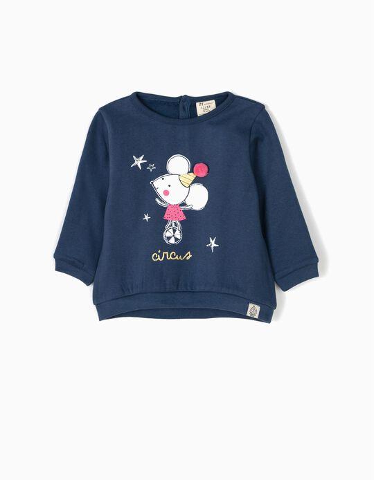 Sweatshirt Circus com Pompom Azul