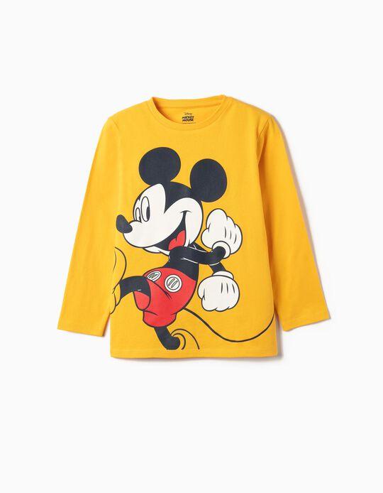 Camiseta Manga Larga para Niño 'Mickey', Amarilla