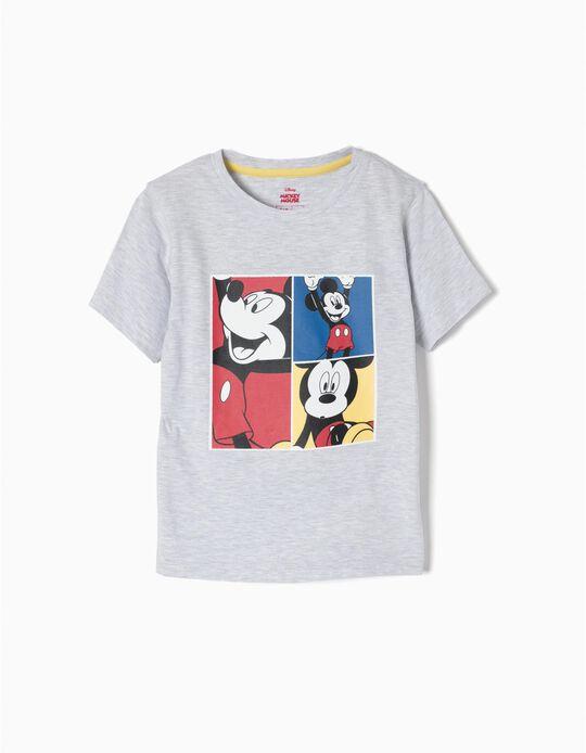 T-shirt Mickey Cinzenta
