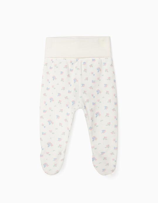 Pantalon à pieds nouveau-née 'WH', blanc