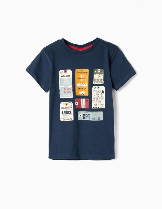 Camiseta para Niño 'Airlines', Azul Oscuro