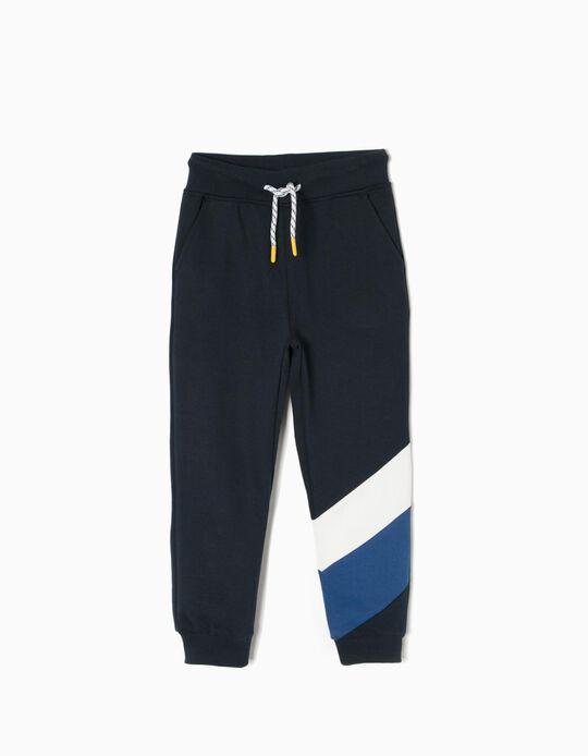 Pantalón de Chándal Azul a Rayas