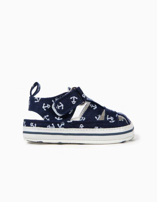 Sandálias para Recém-Nascido 'Anchors', Azul Escuro