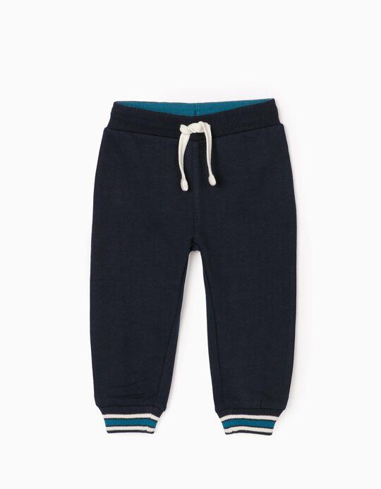 Pantalón de Chándal para Bebé Niño, Azul Oscuro