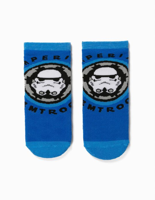 Non-Slip Socks for Boys, 'Star Wars', Blue