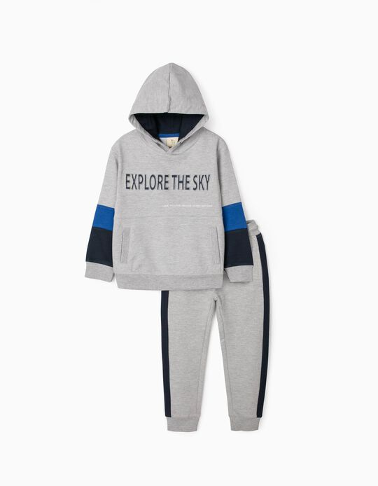 Tracksuit for Boys, 'Explore the Sky', Grey