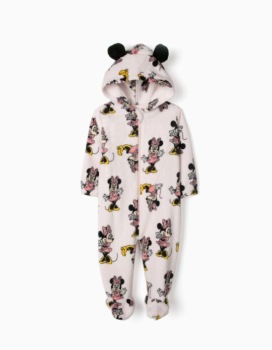 Pijama Mono con Capucha para Bebé Niña 'Minnie', Rosa