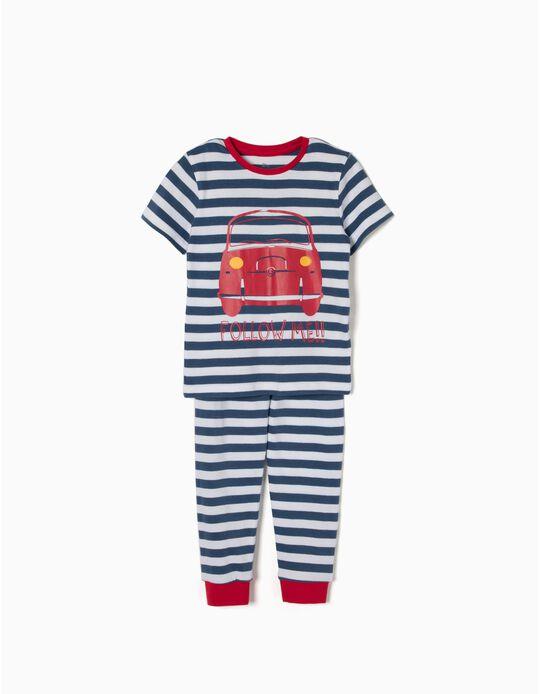 Pijama Camiseta a Rayas Cars