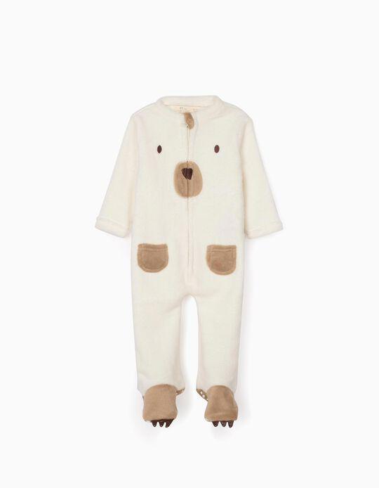 Pijama-Macacão para Bebé 'Bear', Branco