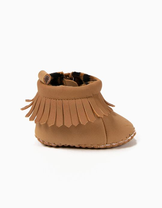 Botas Pre-Walker Flecos Camel