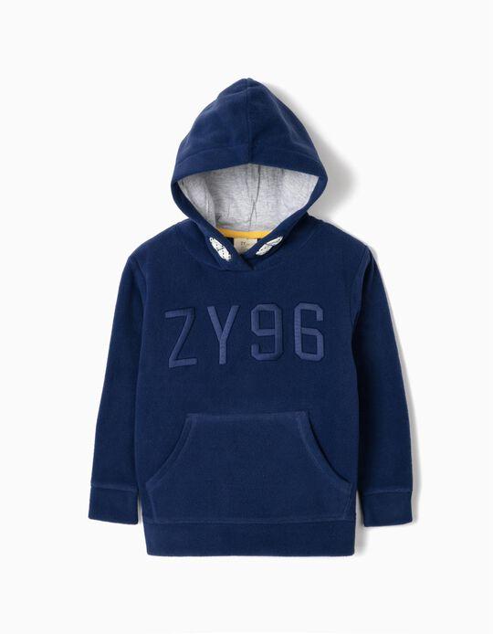Sweatshirt Polar para Menino 'ZY', Azul
