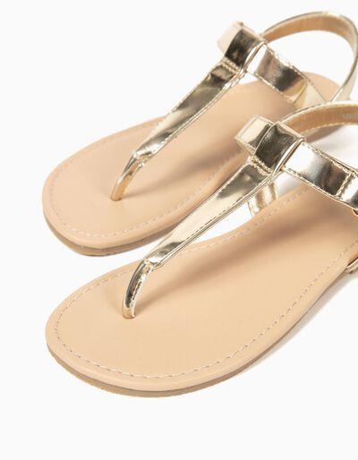 Sandalias Metalizadas