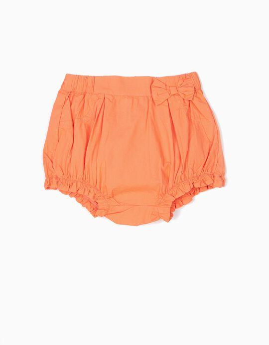Short para Bebé Niña con Lacito, Naranja