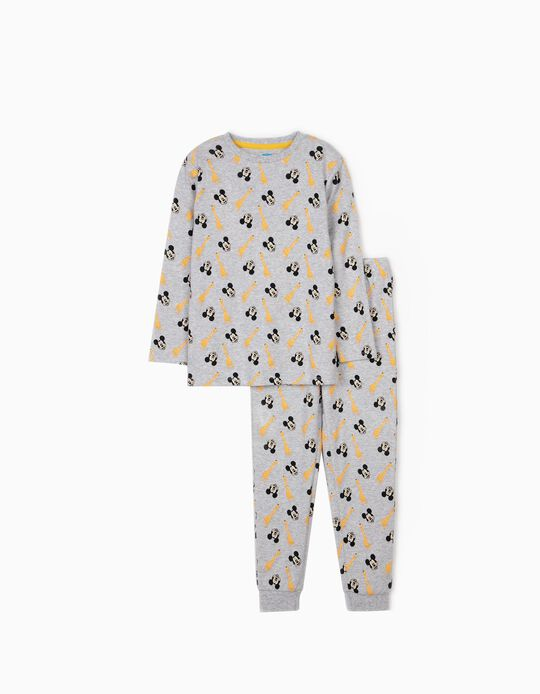 Pyjamas for Boys, 'Mickey & Giraffes', Grey
