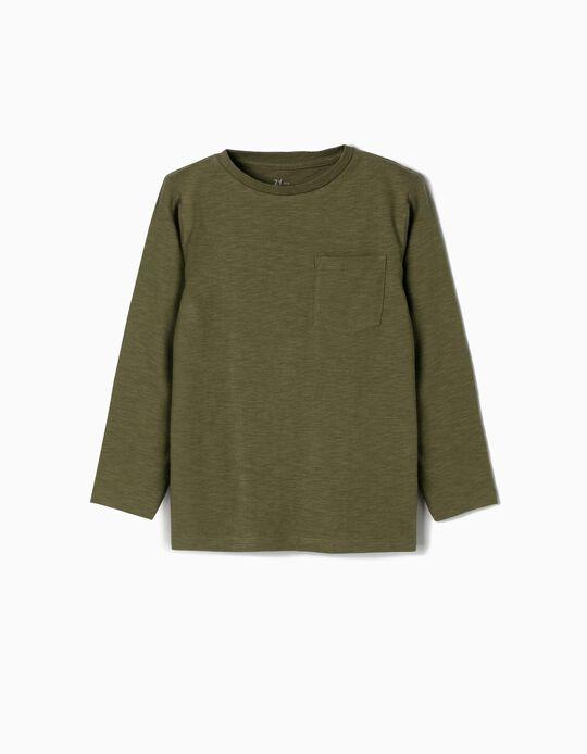 Camiseta de Manga Larga para Niño, Verde