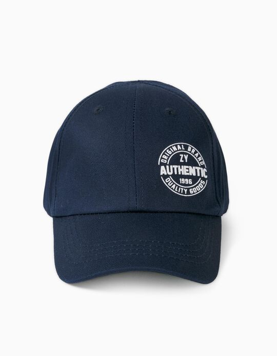 Cap for Boys, 'ZY Authentic', Dark Blue