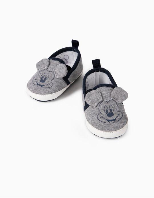 Zapatillas Slip-On para Recién Nacido 'Mickey', Gris