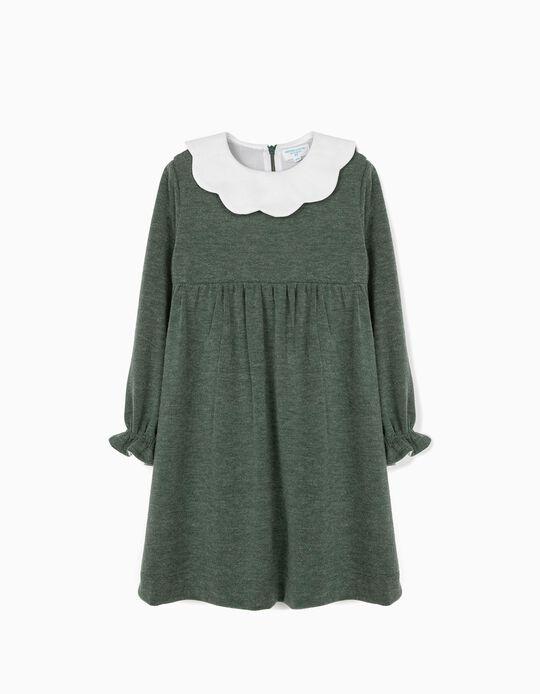 Vestido de Malha para Menina 'B&S', Verde