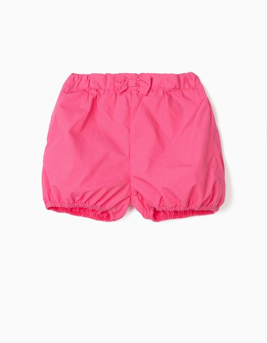 Shorts with Little Bow for Baby Girls, Pink