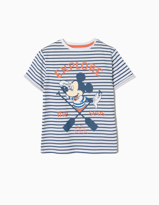 T-shirt Riscas Mickey Explorer