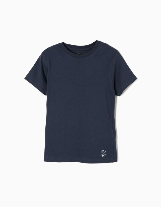 T-shirt para Menino, Azul Escuro